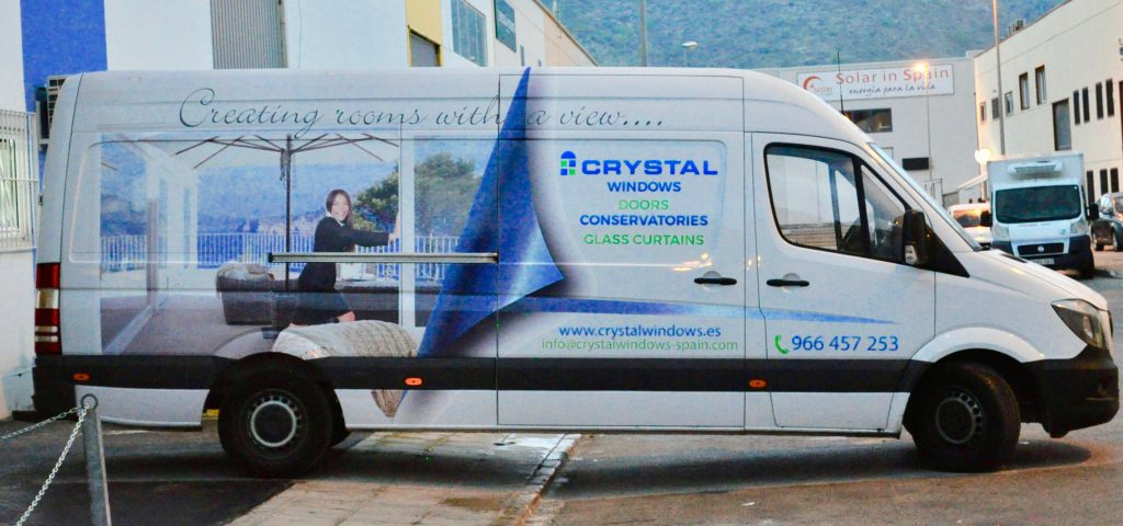 Our vans at Crystal Windows